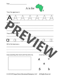 Alphabet Workbook (pdf)
