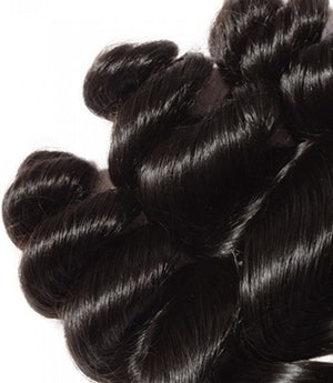 Uniquely Tamed Hair 3 Bundles of Brazilian Loose Wave human hair