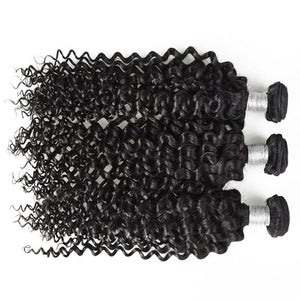 Uniquely Tamed Hair 3 bundles of Indian Deep Curly human hair