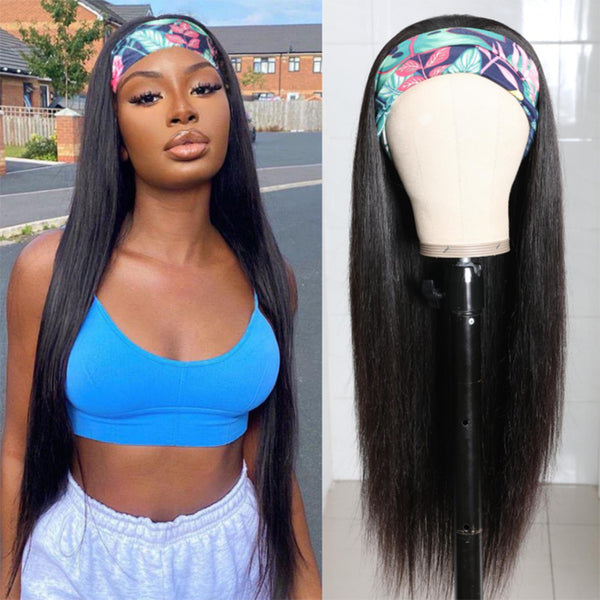 Brazilian Straight Headband Wig