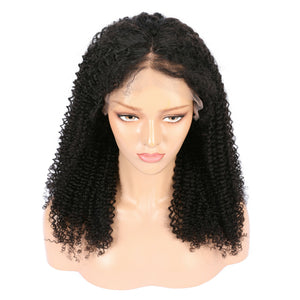 Peruvian Kinky Curly Virgin Hair Full Lace Wig