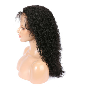 Brazilian Virgin Deep Curly Hair Full Lace Wig