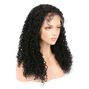 Indian Virgin Deep Curly Hair Full Lace Wig