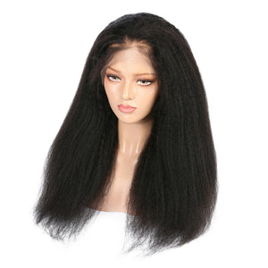 Indian Kinky Straight Virgin Hair Full Lace Wig