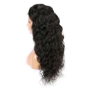 Brazilian Virgin Natural Wave Hair Full Lace Wig
