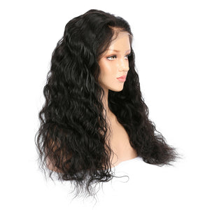 Peruvian Virgin Natural Wave Hair Full Lace Wig