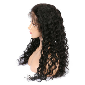 Indian Virgin Water Wave Hair Full Lace Wig