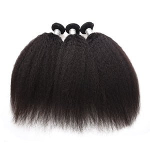 Uniquely Tamed Hair 3 bundles of Indian kinky straight human hair