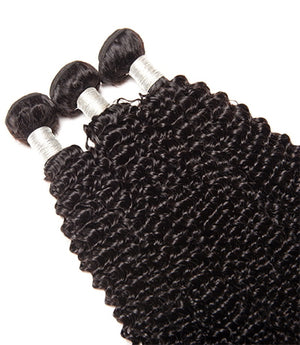 Uniquely Tamed Hair 3 Bundles of Brazilian Kinky Curly human hair