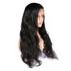 Brazilian Virgin Body Wave Hair Full Lace Wig