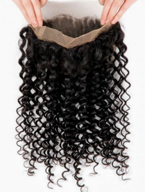 Indian Virgin Hair Deep Wave 360 Frontal