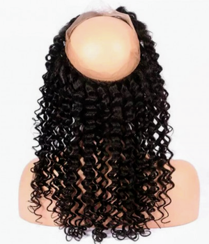 Indian Virgin Hair Deep Curly 360 Frontal