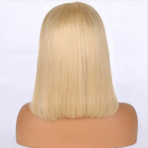 Uniquely Tamed Hair #613 blonde Brazilian hair straight lace front bob wig