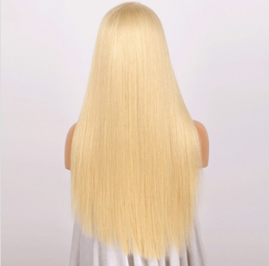 Brazilian Straight Hair #613 Blonde Full Lace Wig