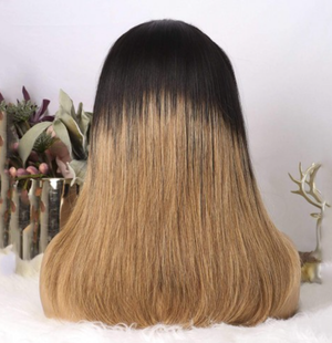 Brazilian Ombre 1B & Honey Blonde Straight Headband Wig