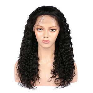 Indian Deep Wave Virgin Hair 360 Lace Wig