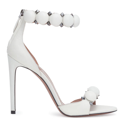 White leather 110 bomb sandals