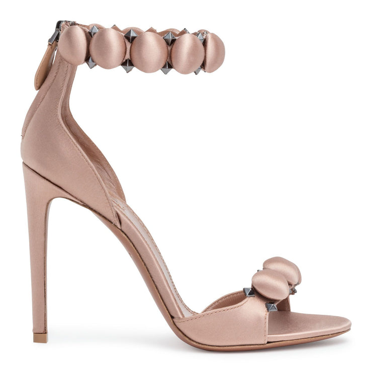 Dark blush 110 satin bomb sandals
