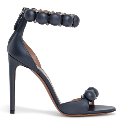 Dark grey 110 leather bomb sandals