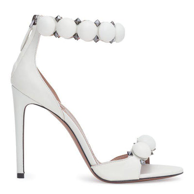 White leather Bomb Sandals