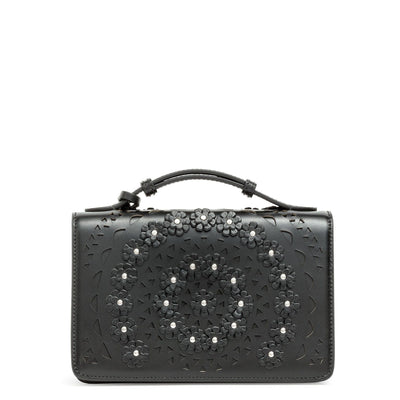 Franca small black flower bag