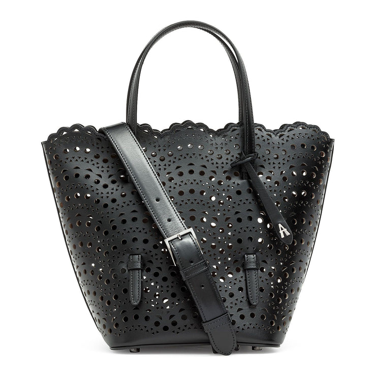 Nicole Zip black bucket bag