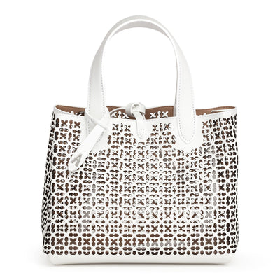 Frida Mini white and black laser-cut bag