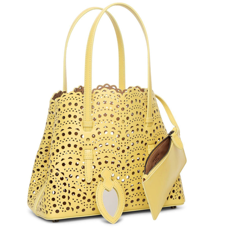 Mina Small yellow tote bag