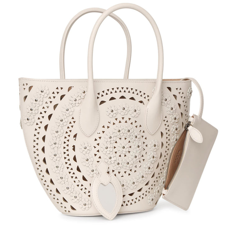 Latifa Mini Flower cream bag