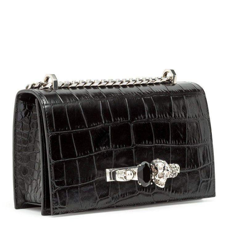 Jewelled black satchel