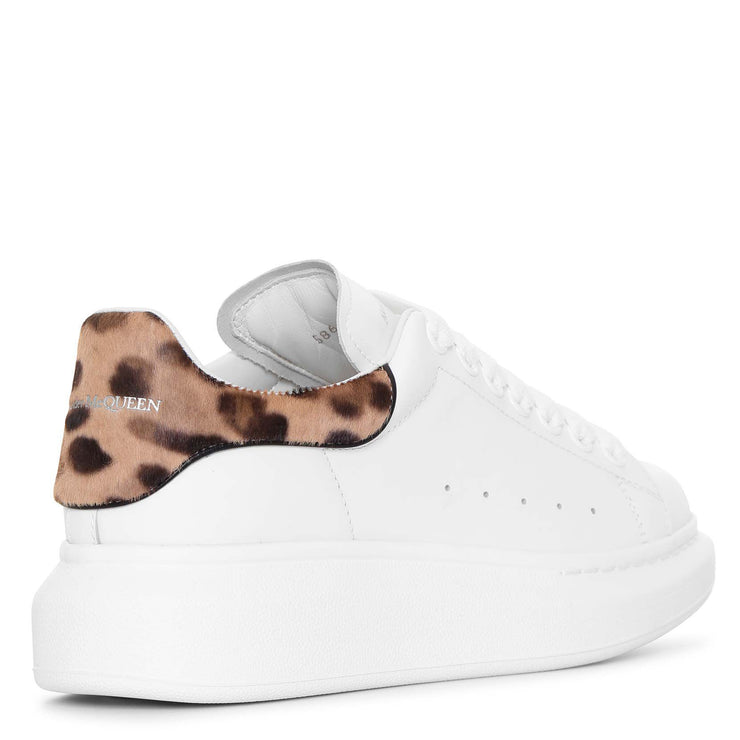 White and leopard classic sneakers