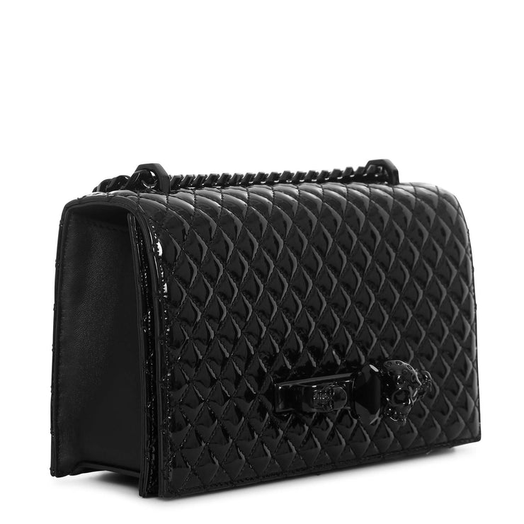 Jewelled Satchel quilted patent bag