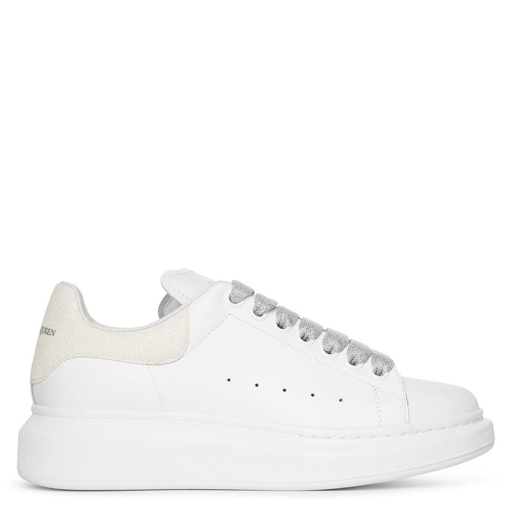White and glitter classic sneakers