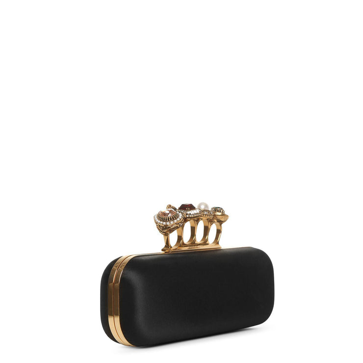 Satin four ring clutch