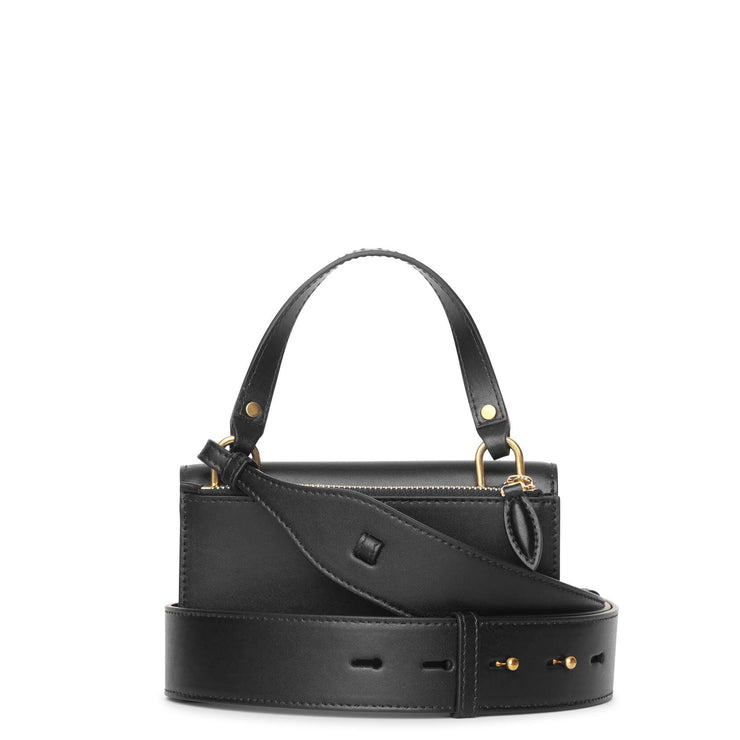 Skull Lock black small shoulder bag