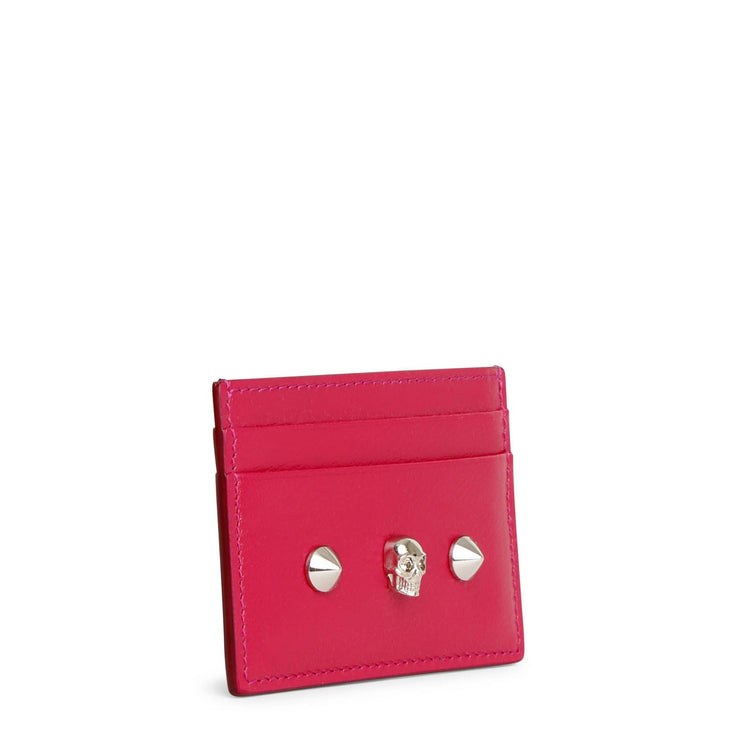Pink skull and stud card holder