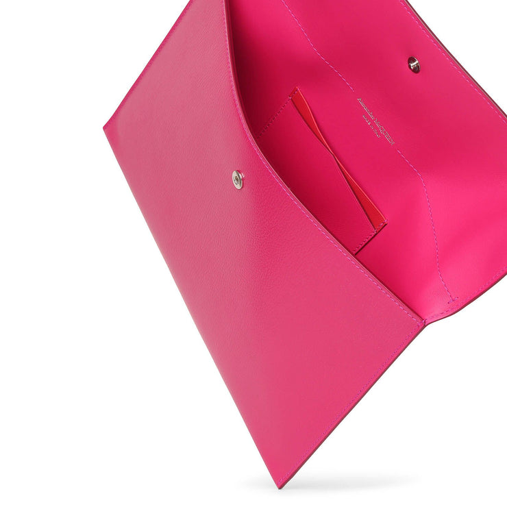 Orchid pink envelope clutch
