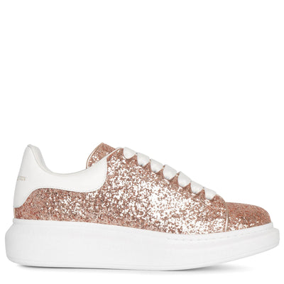 Rose glitter classic leather sneakers
