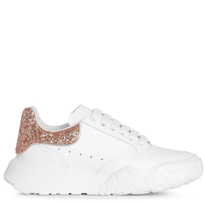 Court rose glitter sneakers