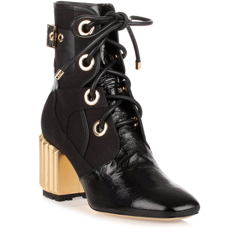 Glorious Black leather ankle boot