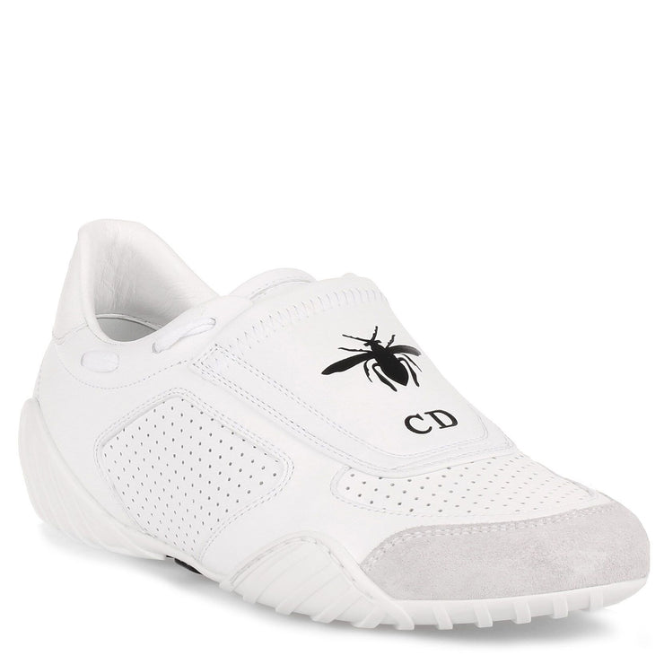 White leather fencing sneaker