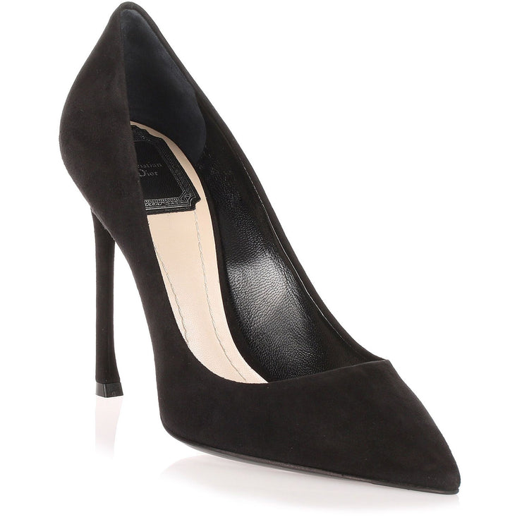 Essence 100 black suede pump