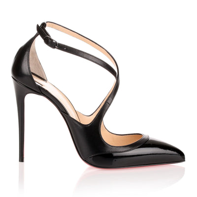 Crissos 100 black leather pump