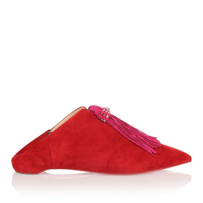 Medinana Flat red suede slipper
