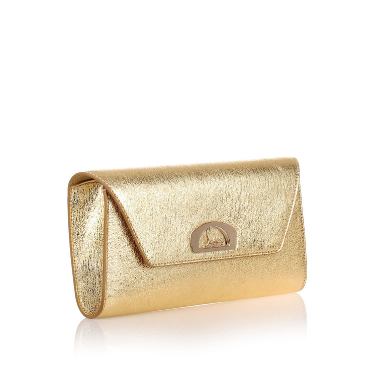 Vero Dodat gold leather clutch