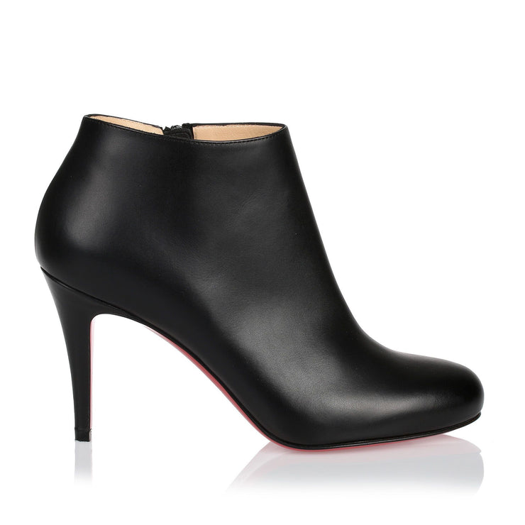 Belle 85 black leather ankle boot