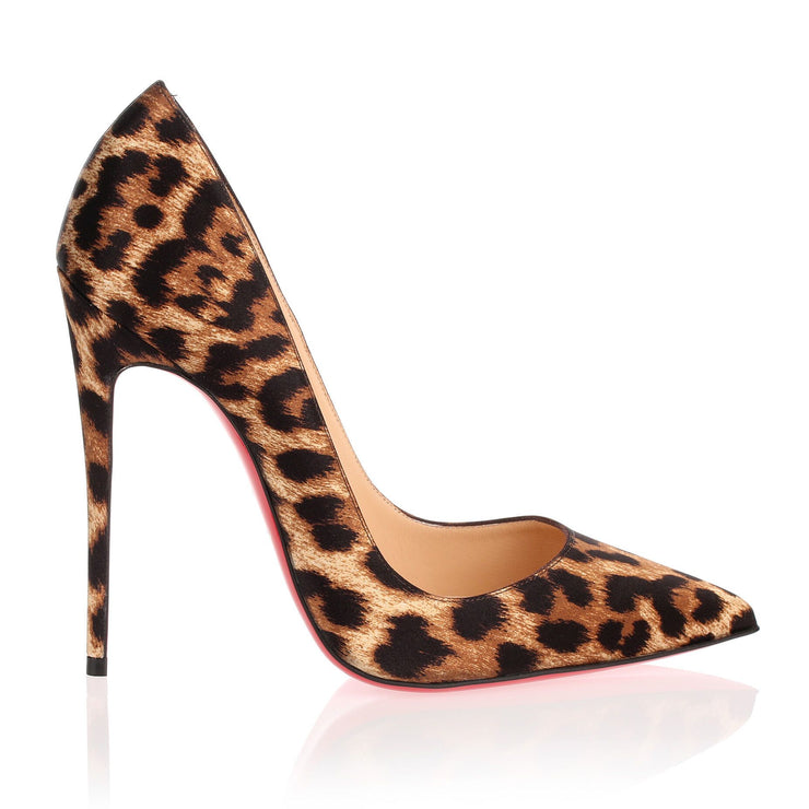 So Kate 120 satin leopard pump