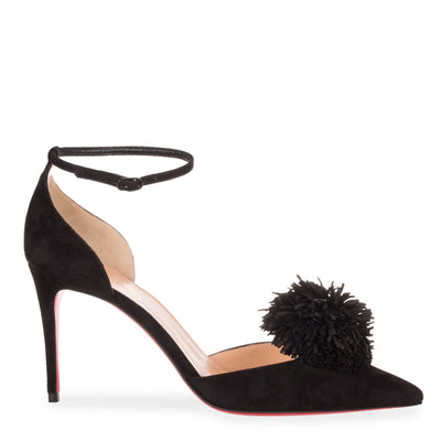 Tsarou 85 black suede pump