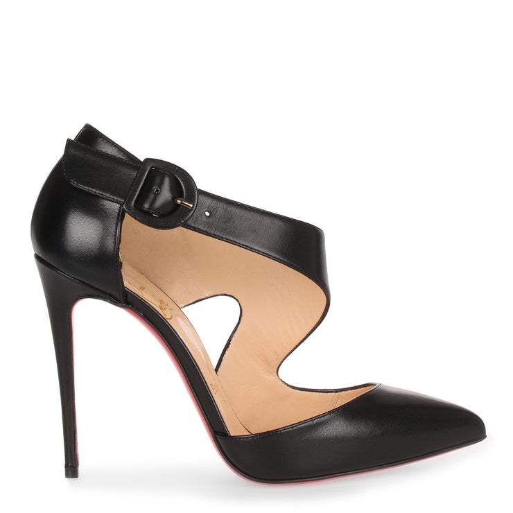 Sharpeta 100 black nappa leather pump