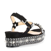 Pyraclou 60 black suede sandals